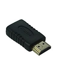 lwm ™ banhados a ouro HDMI A macho para fêmea adaptador de mini-conector HDMI acoplador tipo c