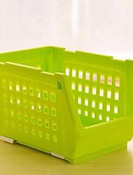 1 couleurs de pièces contenant de plastique boîte de rangement du panier