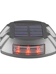 Lâmpada de energia solar 6 LED calçada estrada ao ar livre caminho doca luz passo vermelho-iluminação