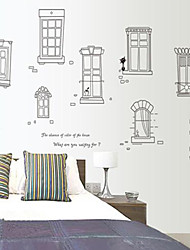Doudouwo® Architecture Modern Door And Window Style Wall Stickers