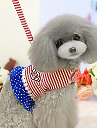 lureme tarja no peito cintas corda de tração para animais de estimação cães (cor aleatória)