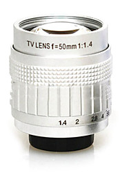 подержанная C-Mount 50mm F1.4-F16 CCTV объектив на микро 4/3 (черный, серия 1)