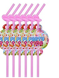 Coway 12 pcs/Package Disposable Environmental Protection Straw Balloon PARTY Birthday Party