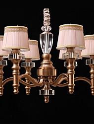 Modern  Bronze Metal Chandelier 6 Lights