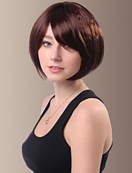 Side Bangs Charming Side Bang Short Syntheic Hair Wig