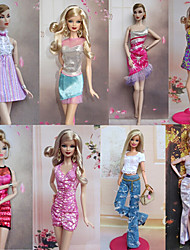 8 Pieces Avant Garde Princess Style Barbbie Doll Noble Evening Dress