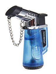 Jobon Hand Held Type Cigar Style Gas Lighter with Keychain