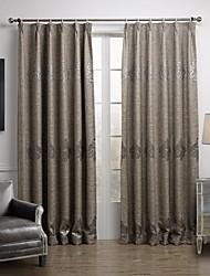 Европейские две панели геометрические серый гостиной белье / сочетание оттенков занавески