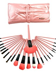 24 Pcs  Pink Brushes Makeup Brush Sets