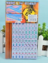 Mini-Kunststoff-portable Reise Mahjong