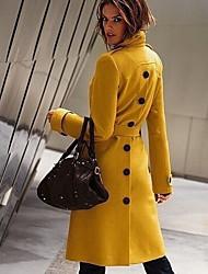 longo casaco de lã ajuste fino das mulheres lavanda