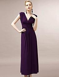 JOANNE KITTEN Women's Party/Cocktail Sexy / Vintage Dress Midi Sleeveless Purple Polyester / Spandex All Seasons