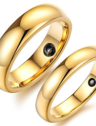 Tungsten Gold Ring Health Care Magnet Couple Ring