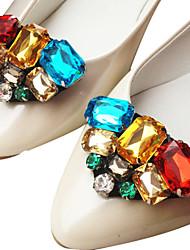 acentos decorativos de cristal de los zapatos de las PC