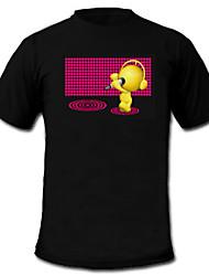 son et la musique vu de spectre activé mètre t-shirt visualiseur el (2 * AAA)