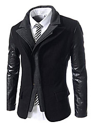 Wshgyy Men's 2Pcs Like Wool Coat