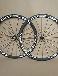Ruedas de 700c de carbono U38 udelsa para llanta tubular bicicleta de carretera profundidad de 38 mm con cubos Powerway ligeros