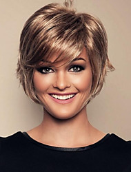 Women  lady  Short  Synthetic  Hair Wigs  With Side Bang