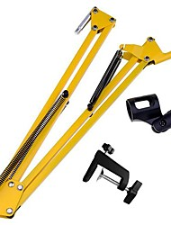 Yellow Microphone Suspension Scissor Arm Stand Mount MD30