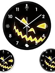 """14 """"Хэллоуин зло тыквы сталкивается немой часы (серебро&черный&белый)"""
