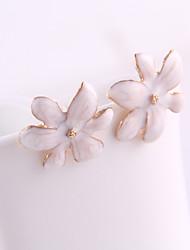 Earring Flower Stud Earrings Jewelry Women Daily Alloy / Enamel White