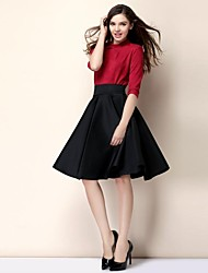 Women's Stylish High Waist A Line Full Skirt