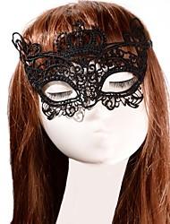 Masque Cosplay Fête / Célébration Déguisement Halloween Noir Lace / Couleur Pleine Masque Halloween Unisexe