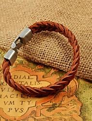 mode mannen weave lederen armbanden