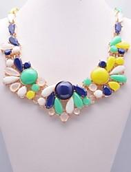 Women's Multi Color Fashion Gem Necklace