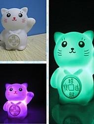 coway creativo regalo romantico Maneki Neko colorato luce notturna led