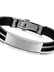 z&x® moda personalidade superfície lisa pulseiras de aço de titânio jóias masculinas