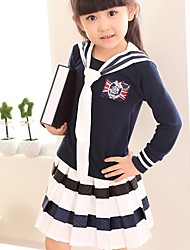 Girls Navy Style Suit