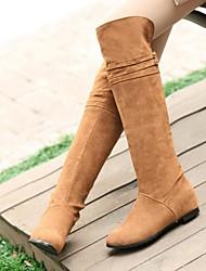 damesschoenen ronde neus lage hak knie-hoge laarzen meer kleuren beschikbaar