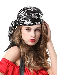 pirati neri scheletro hip hop halloween party copricapo