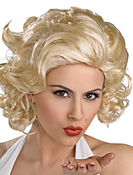 Charming Marilyn Monroe Short Curly Golden 28cm Women's Halloween Party Wig