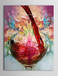 Ölgemälde einer Platte modernen Stilleben Weinschale von Hand bemalt Leinwand fertig zum Aufhängen