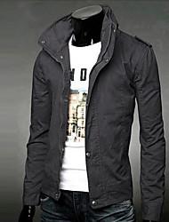 Men's Slim Fit Solid Color Long Sleeve T Shirt