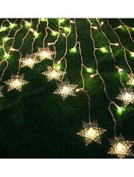 seqüência levou luz 104 luzes moderno 16 floco de forma plástica L2M * H1M 220v