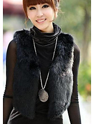 Women's The New Women's Dress Code And Fashion A Short Paragraph Imitation Fur Vest