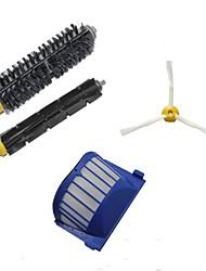 Aero Vac Filter & Bristle Brush & Flexible Beater Brush & 3-Armed Side Brush Pack Kit for iRobot Roomba 600 Series