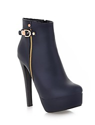 Women's Shoes  Fashion Boots  Stiletto Heel Ankle Boots with Buckle  More Colors available
