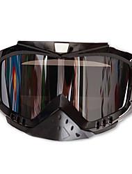 motocicleta gafas de esquí plata lentes de cristales de las gafas de seguridad deporte protector ocular