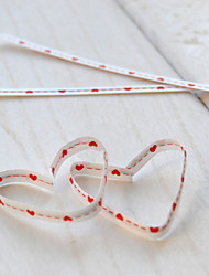 Red Heart Shaped Gift Bags Wire Cabel Ties-Set Of 10
