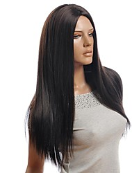 Dark Brown Long Straight Synthetic Wigs
