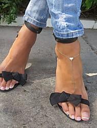 alliage de bracelet de cheville mode des femmes (20cm * 1cm * 0.5cm d') (or) (1 pc)