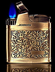 Jobon Retro Anaglyph Metal Gold and Silver Lighters Toys