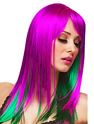 Delilah Demon Long Straight Purple & Green 45cm Women's Halloween Party Wig