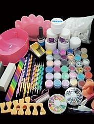 36PCS Professional Nail Art Set Acrylic Primer Powder Tips Tool