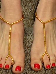 Women's All Handmade Beads Beaded Anklets