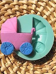 bebé fondant carro chocolate arcilla resina de molde de silicona dulces, l7.2m * w7.2cm * h2.2cm